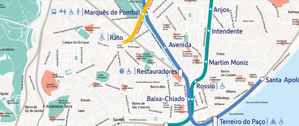 Cartina Di Parigi E Dintorni.Mappa Di Lisbona In Pdf Da Stampare Metro Tram E Bus