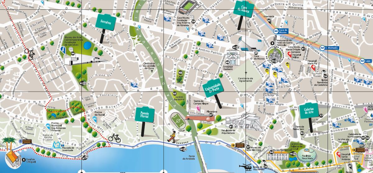 Cartina Geografica Di Londra Da Stampare.Mappe Di Porto Da Stampare Attrazioni Metro Tram E Bus